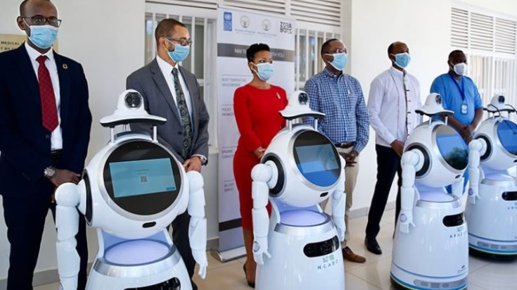 Robots to Fight Covid19 in Rwanda